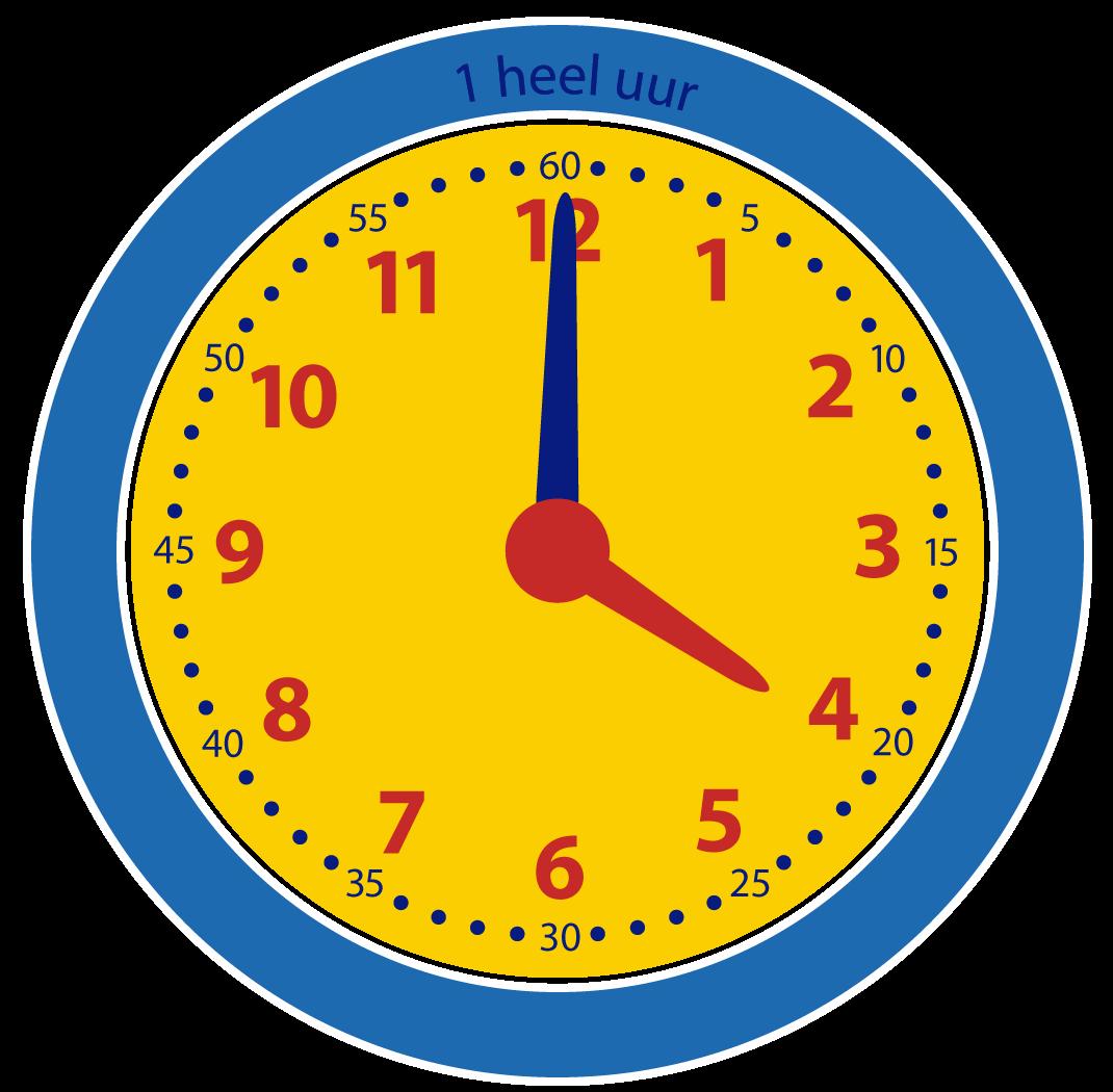 Klokkijken heel uur leren