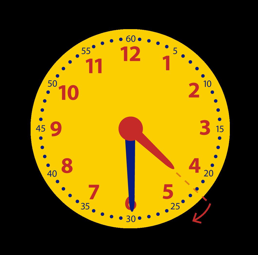 Halve uren leren aflezen op de klok
