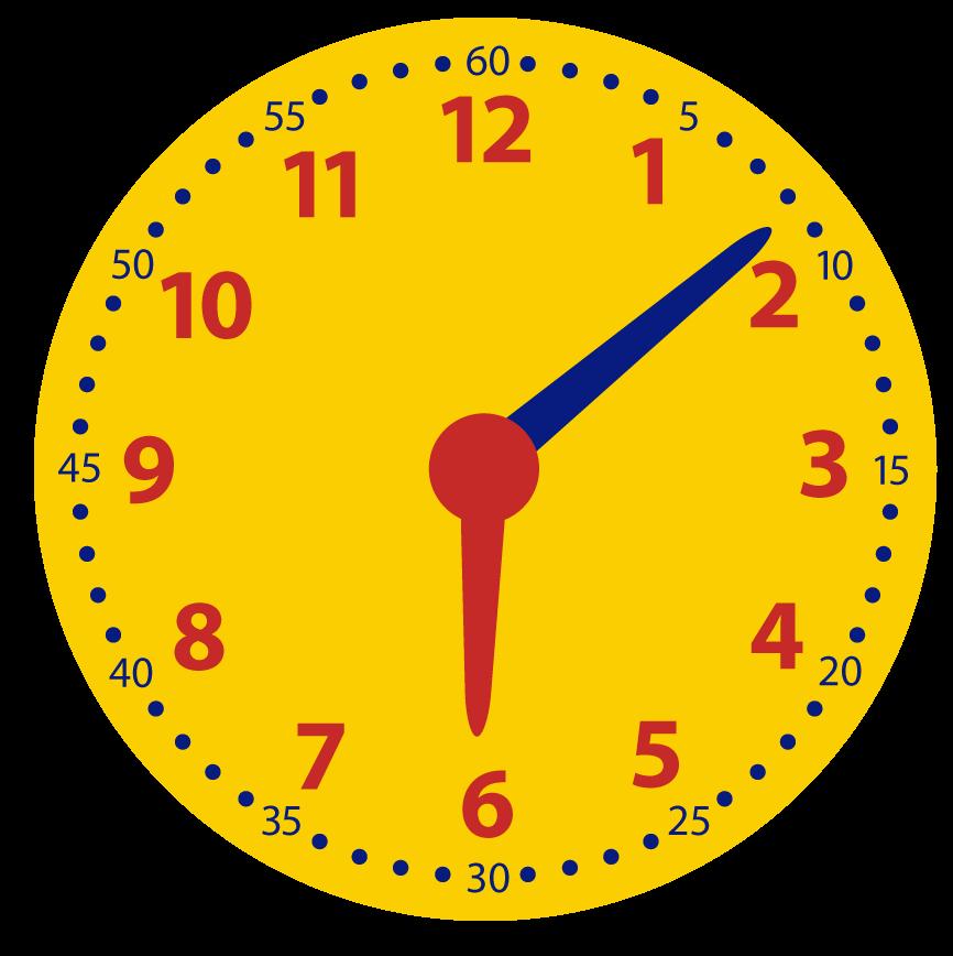 Klokkijken. Minuten. Minuten over het hele uur.