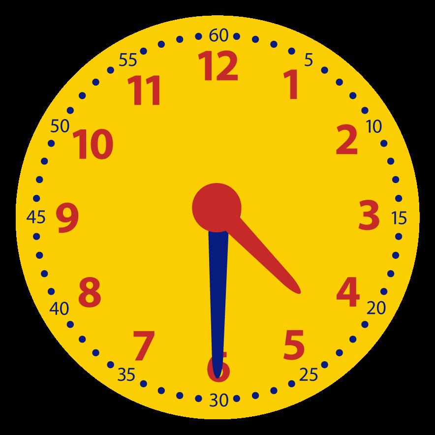 De digitale tijd bepalen bij de analoge klok.