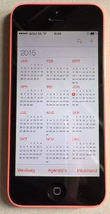 smartphone, digitale agenda, rekenen met de kalender