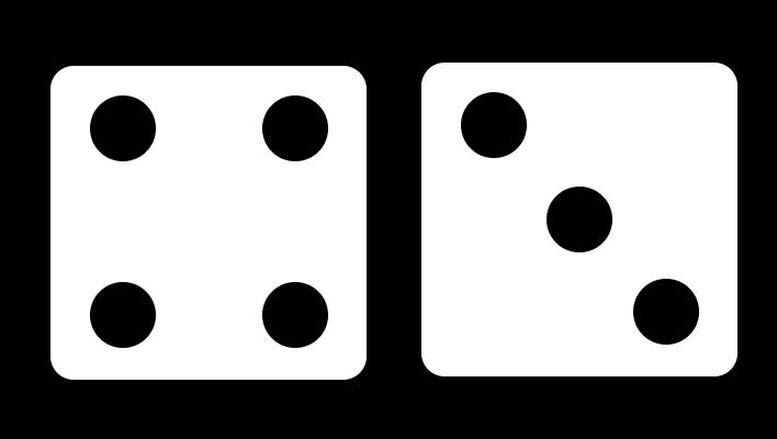 Rekenen op de dobbelsteen, 7 op de dobbelsteen, 4 en 3