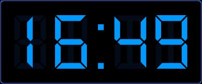 Digitale kloktijden.