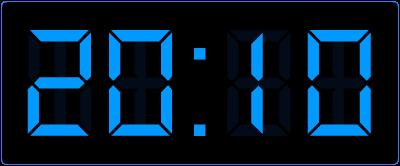10 minuten over 8 's avonds in digitale tijd.