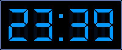 Minuten over half op de digitale klok aflezen. Hoe laat is het precies?