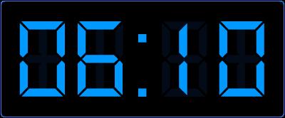 10 over op de digitale klok. Hoe laat is het een kwartier later op de digitale klok?