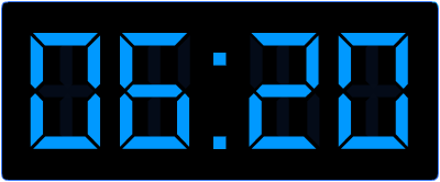 Minuten voor half op de digitale klok.