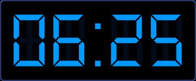5 voor half op de digitale klok. Oefenen met het digitale klokkijken.