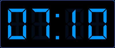 10 minuten over het hele uur op de digitale klok. Online oefenen met het klokkijken.