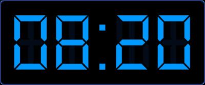 Klokkijken op de digitale klok. Een kwartier vroeger.