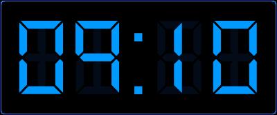 Minuten aflezen op de digitale klok. 10 minuten over 10.