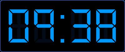 Digitaal klokkijken in de bovenbouw. Oefenen met halve uren op de digitale klok.
