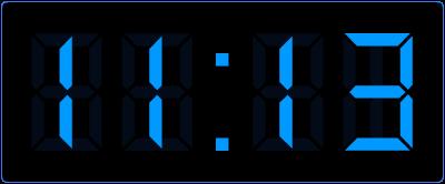 minuten weergeven op de digitale klok.