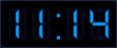 Minuten aflezen op de digitale klok. Hoeveel minuten later is het?