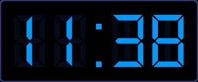 Tijd berekenen op de digitale klok.