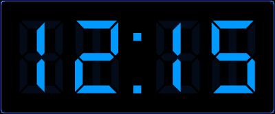Kwart over het hele uur aflezen op de digitale klok. Een kwartier = 15 minuten. De digitale klok geeft dit weer.