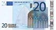 briefje van 20 euro, 20 euro, rekenen 20 euro