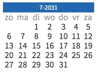 Rekenen, oefenen, junior einstein, kalender, datum, dag
